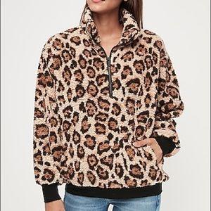 Express leopard Sherpa size small